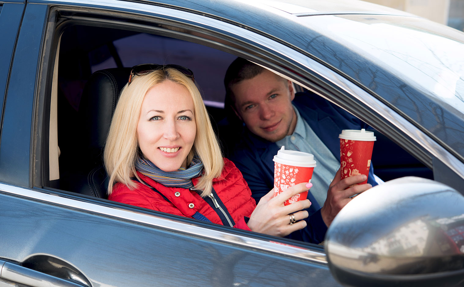 buying coffee with car mobile payments