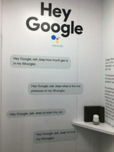 hey google jeep dialog signage CES1029