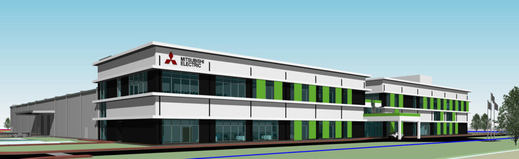 Rendering of MEAI's new plant in Gujarat, India